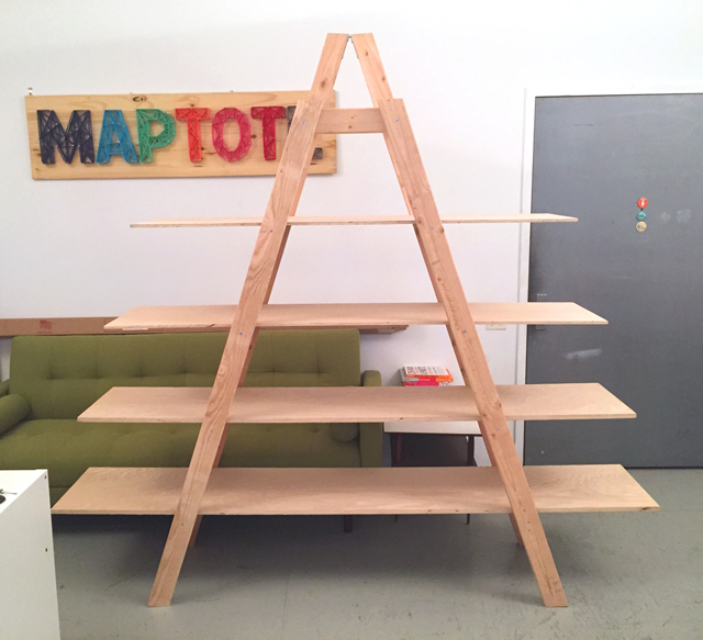 Making of the tradeshow ladder shelf maptote for How to make display shelves