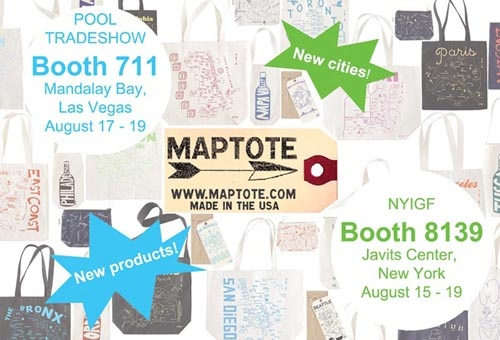 August 2010 maptote for Pool trade show new york