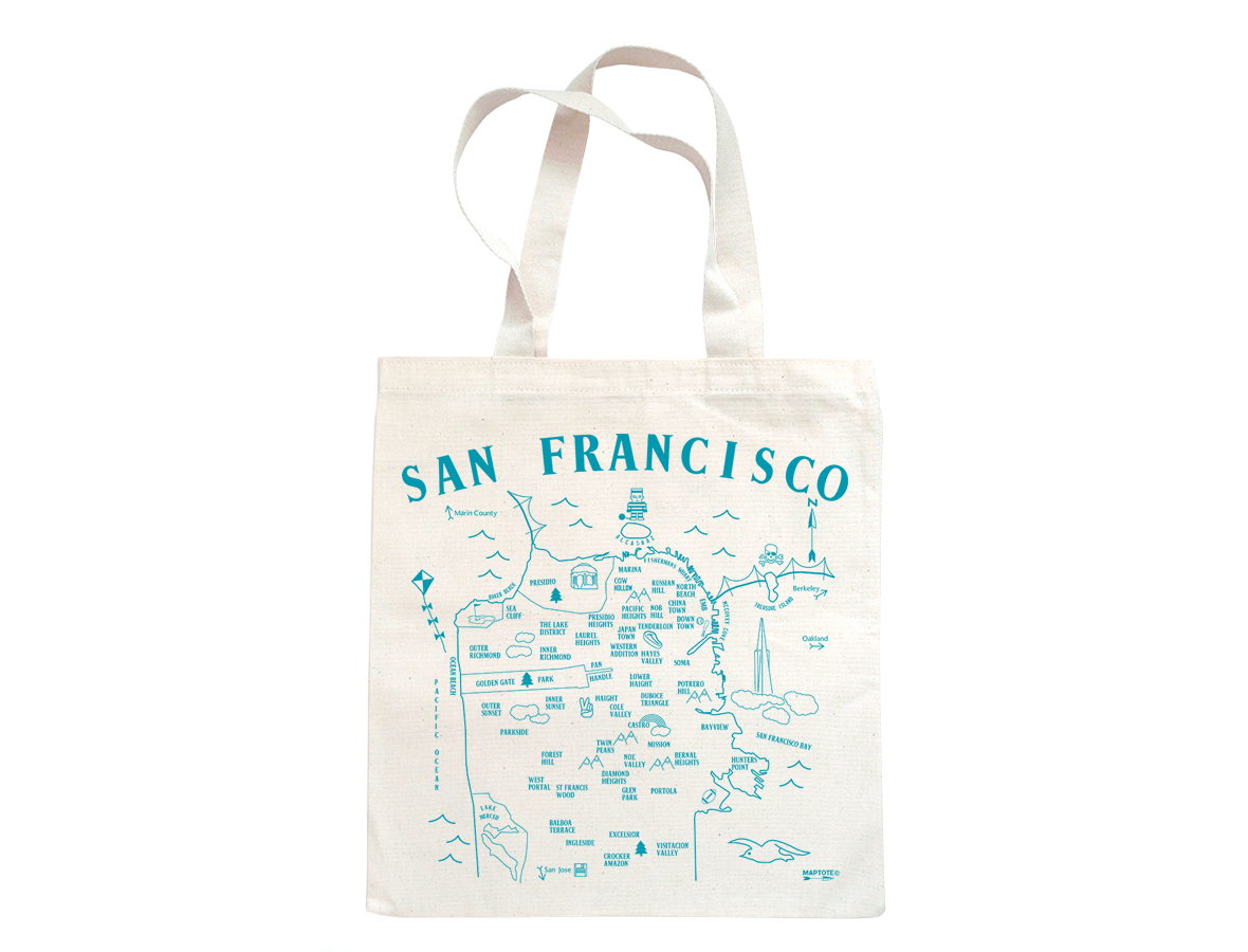 Maptote San Francisco Grocery Tote