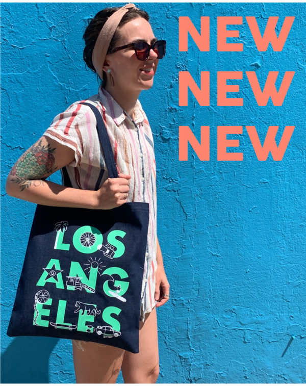 New Font Los Angeles Denim Tote