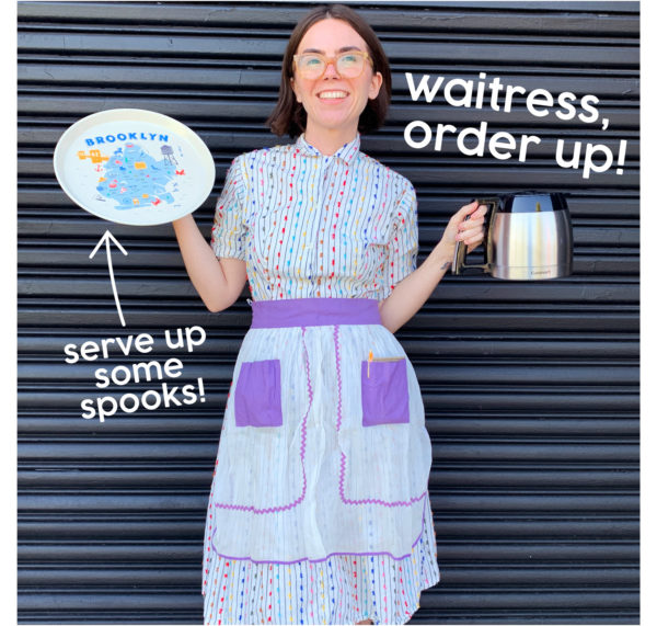 Waitress Costume with Round Trays