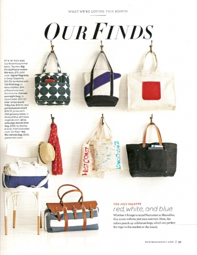 Maptote In Martha Stewart Living