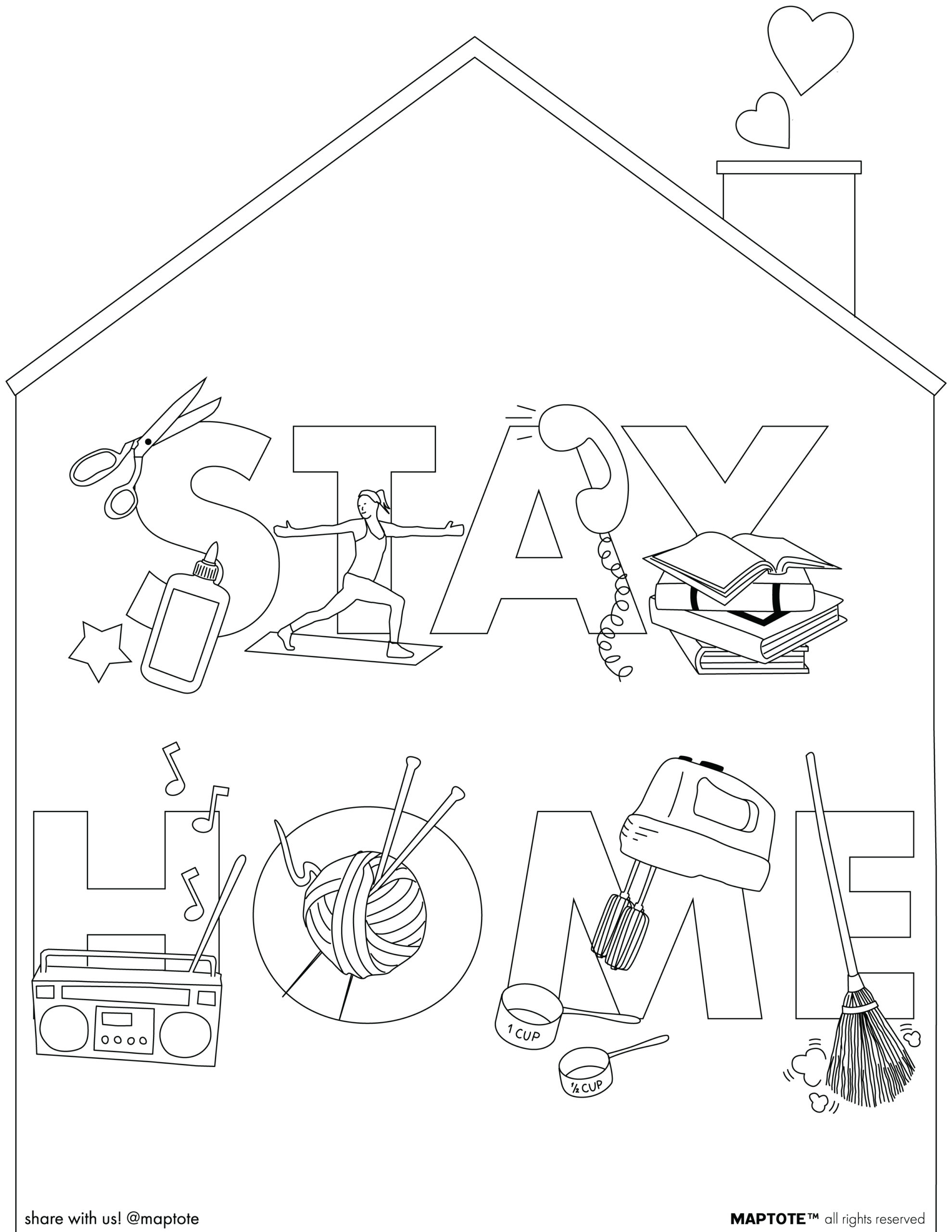 Free Coloring Pages Card Downloads Maptote