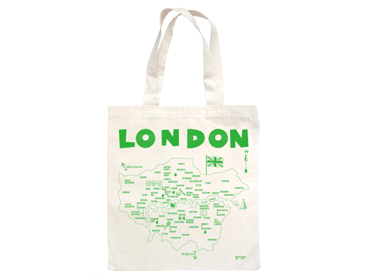. maptote  london grocery tote