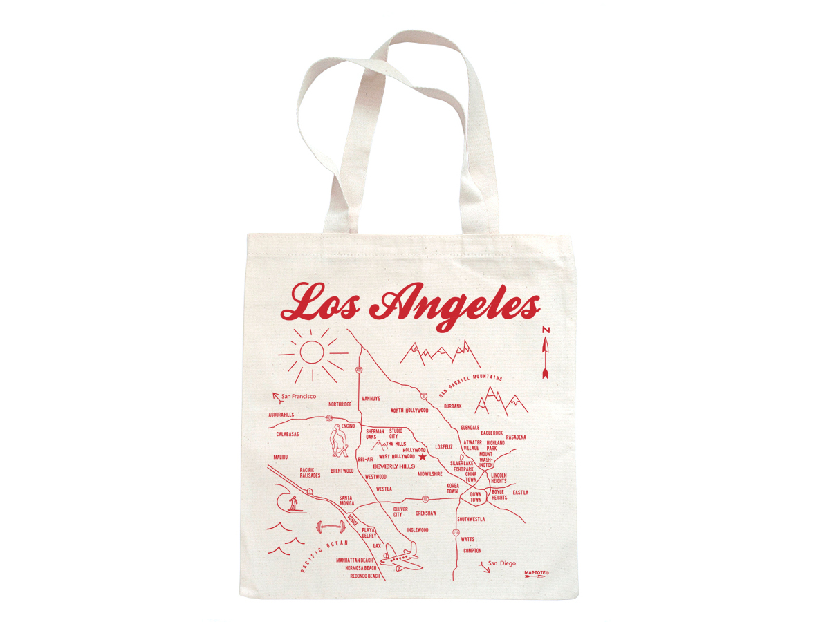 Maptote Los Angeles Grocery Tote - Map of the us labeled los angeles