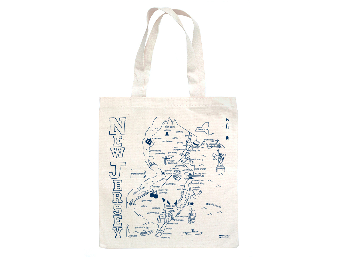 Maptote | New Jersey Grocery Tote