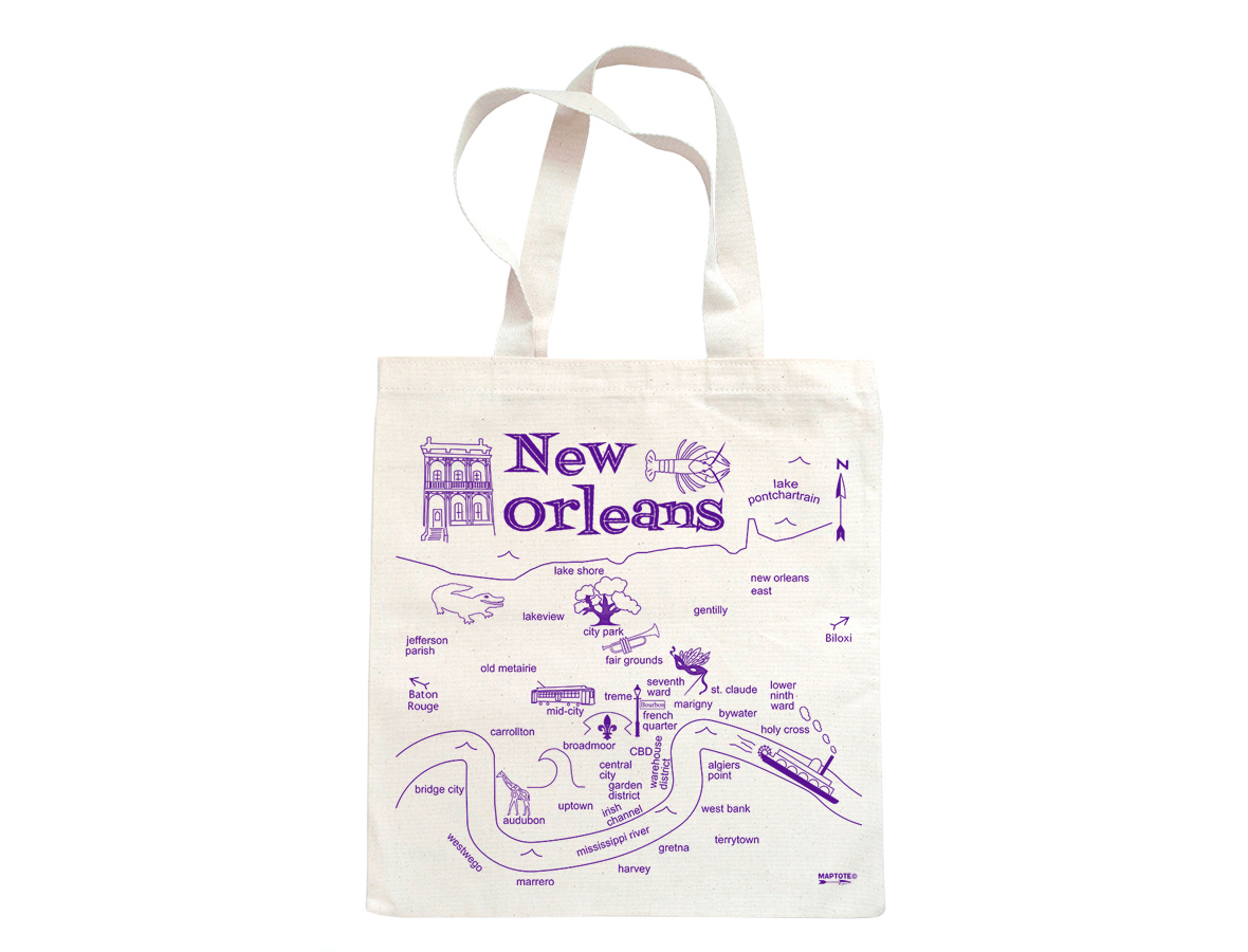 Maptote | New Orleans Grocery Tote