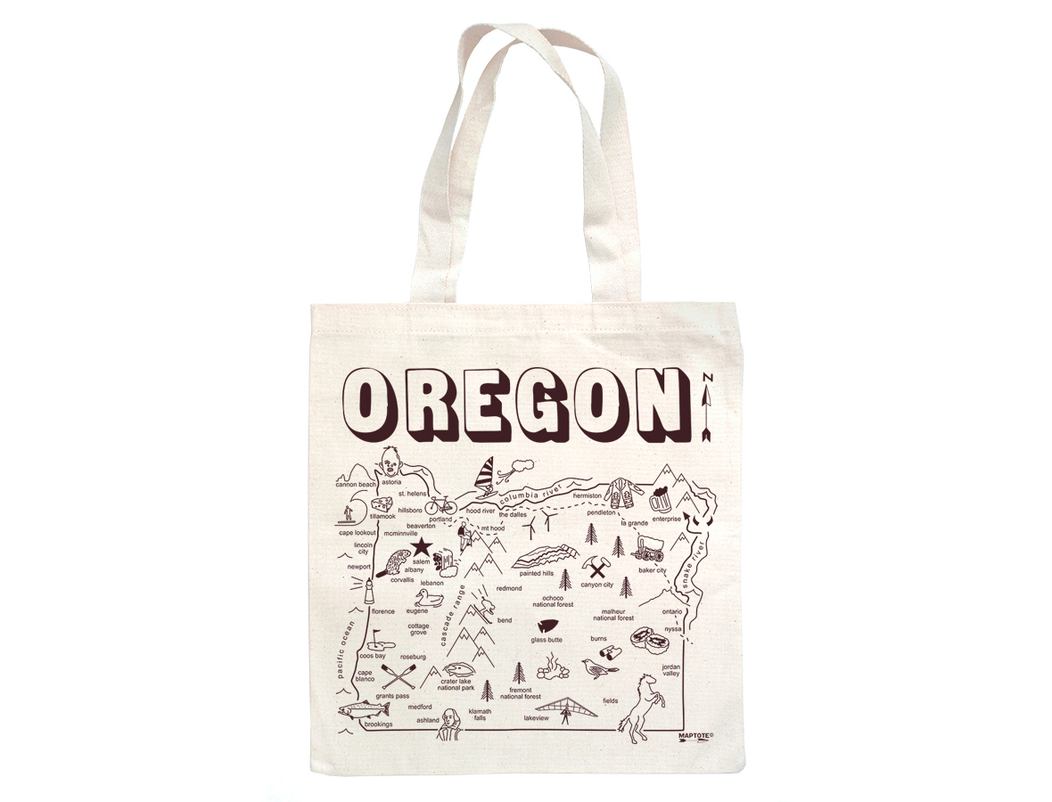 all images are protected under strict copyright laws and cannot bereproduced in any manner without the written consent of maptote. maptote  oregon grocery tote
