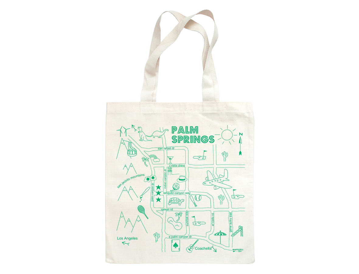 all images are protected under strict copyright laws and cannot bereproduced in any manner without the written consent of maptote. maptote  palm springs grocery tote