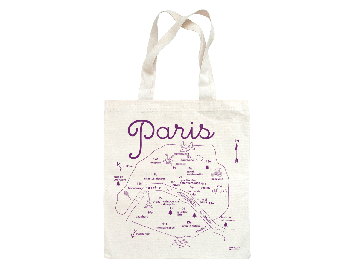 . maptote  paris grocery tote