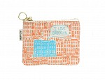 Brooklyn Coin Purse Orange/Blue