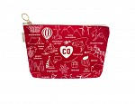 Colorado Zipped Pouches Red