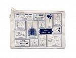 Los Angeles Flat Zip Pouch Natural