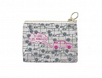 Los Angeles Coin Purse Grey/Pink