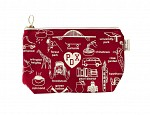 Portland Zipped Pouches Red