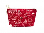 San Francisco Zipped Pouches Red