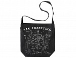 San Francisco Black Hobo Tote
