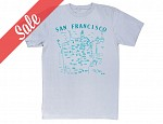 San Francisco Adult Tee Silver