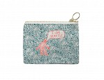 Seattle Coin Purse Turquoise/Red