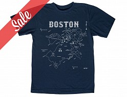 Boston Adult Tee Navy - SALE