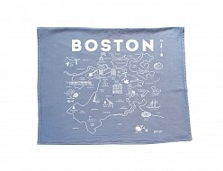 Boston Tea Towel Blue