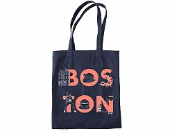 Boston FONT Denim Tote