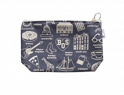Boston Zipped Pouches Gray
