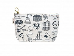 Boston Zipped Pouches Natural