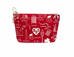 Boston Zipped Pouches Red