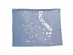 California Tea Towel Blue