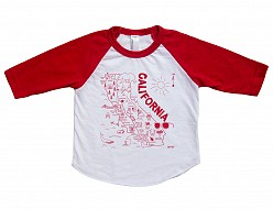 California Baby Baseball Tee