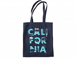 California FONT Denim Tote