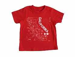California Toddler Tee Red