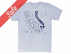 California Adult Tee Silver