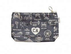 California Zipped Pouches Gray