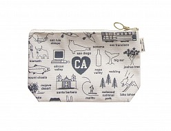 California Zipped Pouches Natural