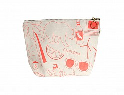 California Makeup Pouch - Natural