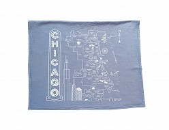 Chicago Tea Towel Blue
