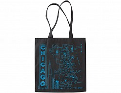 Chicago Black Everyday Tote