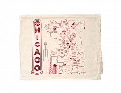 Chicago Tea Towel Natural