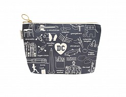 Washington DC Zipped Pouches Gray