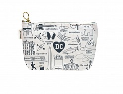 Washington DC Zipped Pouches Natural
