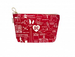 Washington DC Zipped Pouches Red