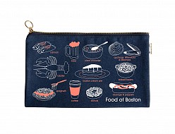 Boston Foodie Slim Pouch Denim