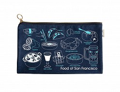 San Francisco Foodie Slim Pouch Denim