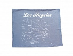 Los Angeles Tea Towel Blue