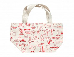 Los Angeles Mini Tote Red