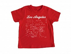 Los Angeles Toddler Tee Red