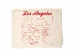 Los Angeles Tea Towel Natural