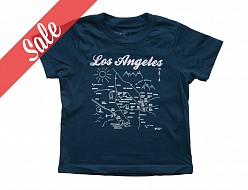 Los Angeles Toddler Tee Navy - SALE